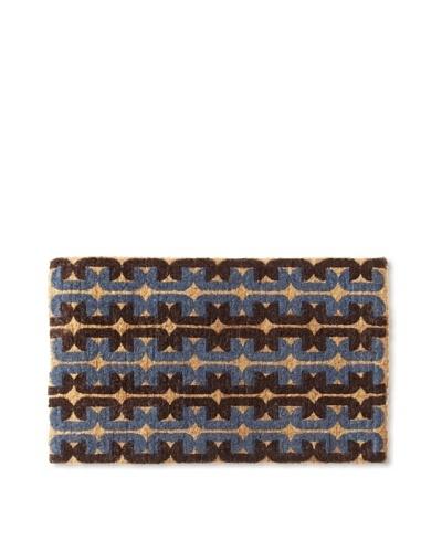 India Rose Draper Doormat, Blue Mod, 19 x 30