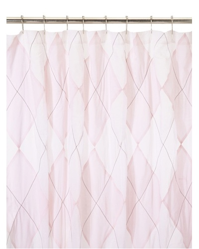India Rose Argyle Shower Curtain, Pink/White, 72 x 72