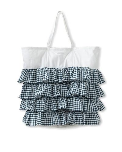 India Rose Ida Laundry Bag, White/Navy, 24 x 30