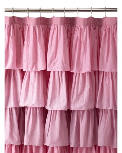India Rose Kiss Shower Curtain, Pink, 72 x 72