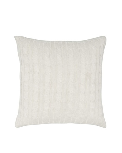 India's Heritage Cable Knit Pillow, Natural, 20 x 20