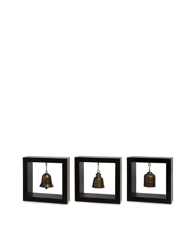 Indochine Framed Bells, Black/Gold
