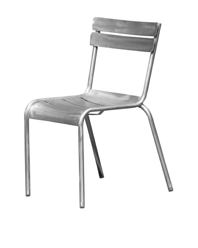 Industrial Chic Marcel Chair, Brushed Aluminum