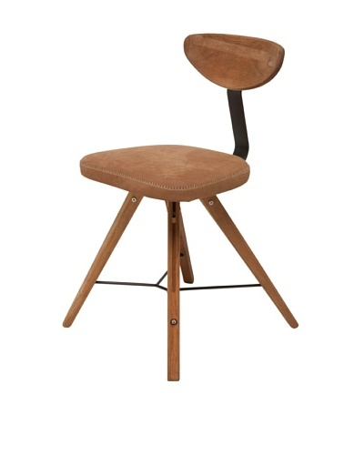 Industrial Chic Theo Chair, Fumed Oak