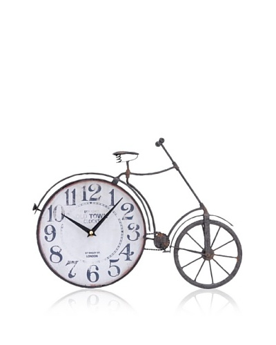 Industrial Chic Vintage-Style Bicycle Clock
