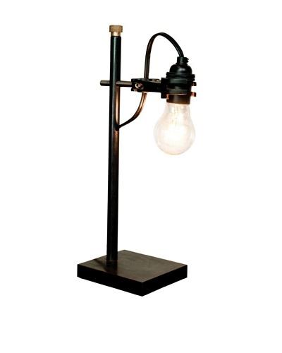 Industrial Chic Brass Desk Lamp, Brass