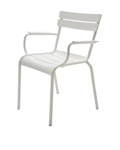 Industrial Chic Marcel Arm Chair, White