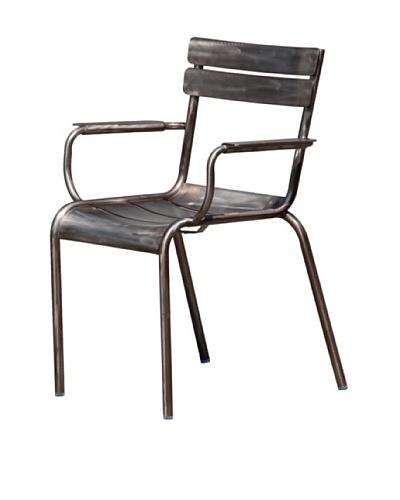 Industrial Chic Marcel Arm Chair, Gunmetal