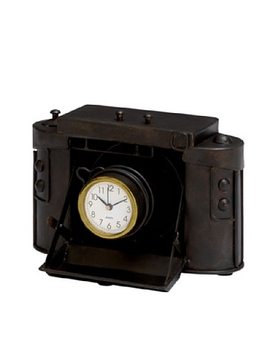 Industrial Chic Old-Fashioned Camera Table Clock