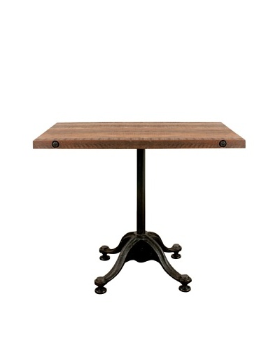 Industrial Chic Reclaimed Wood Square Table