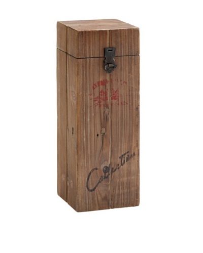 Wood and Metal Box Wine Holder
