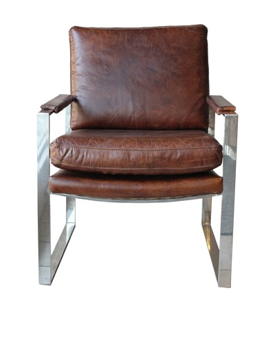 Melange Home Milano Chair, Vintage Brown