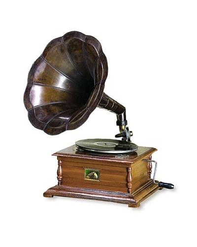 Wood and Metal Gramophone