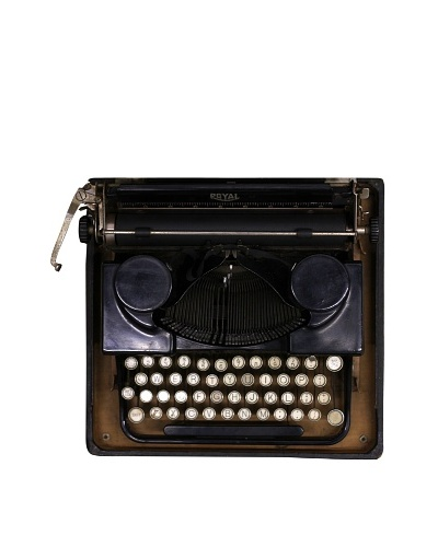 Royal Vintage Typewriter, Black
