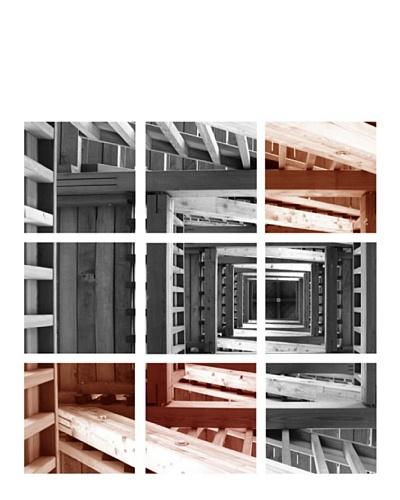 "Art Addiction Set of 9 Stairwell 12"" x 12"" Acrylic Panels"