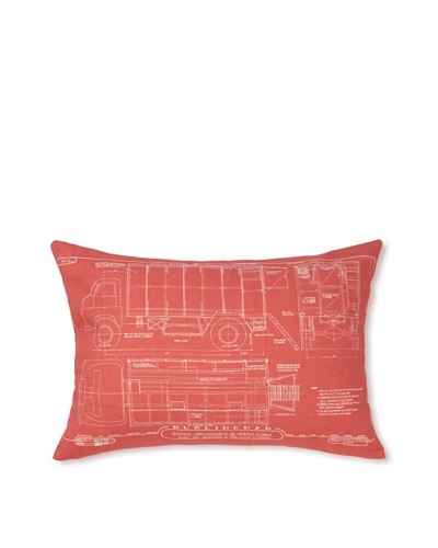 Prints Charming Soho Red Truck 17 x 24 Pillow