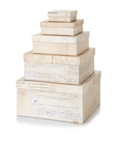 The HomePort Collection Set of 5 Nesting Paper Boxes
