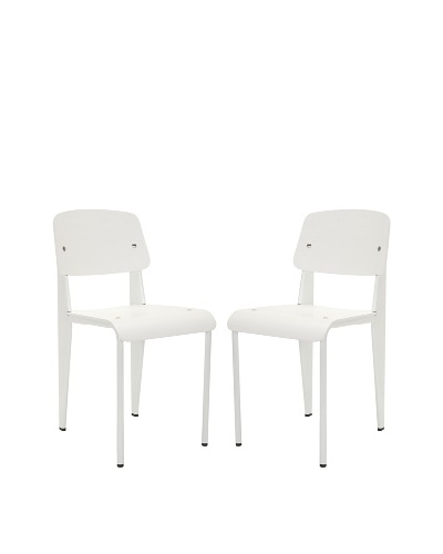 Safavieh Set of 2 Nembus Side Chairs, White