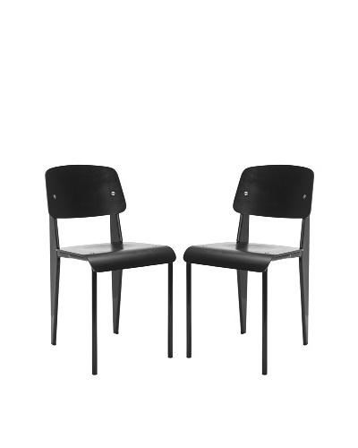 Safavieh Set of 2 Nembus Side Chairs, Black