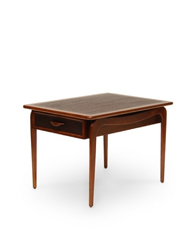 Palecek Pasadena Chiseled-Top Table, Tobacco