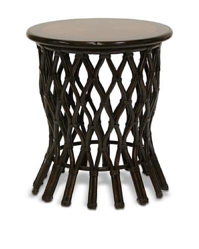 Palecek Delta Side Table, Black/Brown
