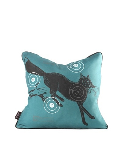 Inhabit Fox Bullseye Pillow, Cornflower Blue