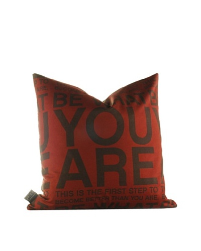 Inhabit You Are Pillow, Scarlet & Chocolate