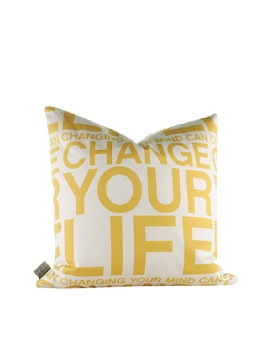 Inhabit Change Your Life Pillow, Sunflower