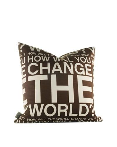 Inhabit Change the World Pillow [Chocolate]