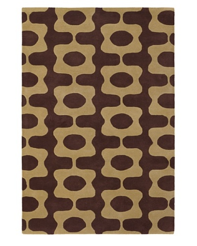 Inhabit Hand-Tufted New Zealand Wool Rug [Chocolate/Caramel]