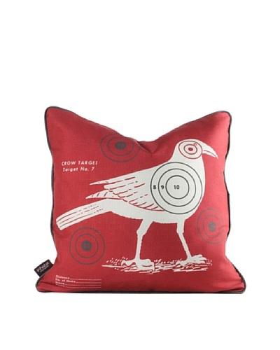 Inhabit Crow Bullseye Pillow, Scarlet Red