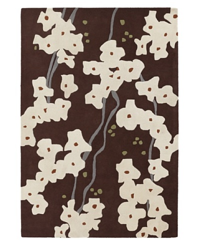 Inhabit Hand-Tufted New Zealand Wool Rug [Brown/Ivory]