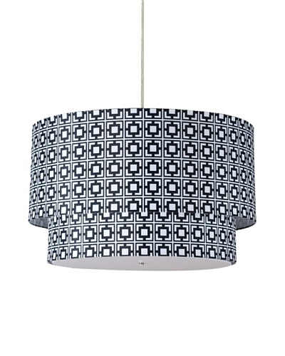 Inhabit Hudson Double Pendant Lamp, Black/White, 24 x 14
