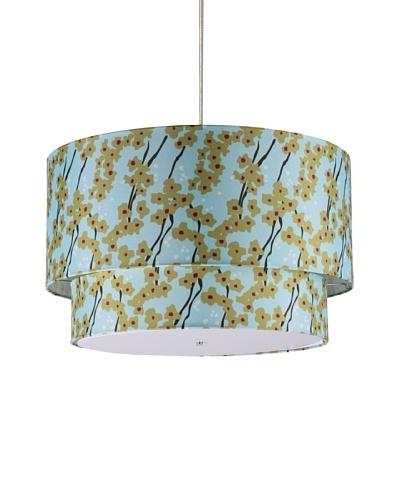 Inhabit Floral Hudson Double Pendant Lamp, Pyrus/Cornflower, 24 x 14