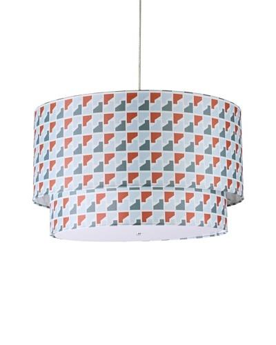 Inhabit Hudson Double Pendant Lamp, Persimmon/Steel, 24 x 14