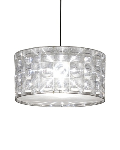 Innermost Lighthouse Large Flat Pendant Suspension Light, Transparent