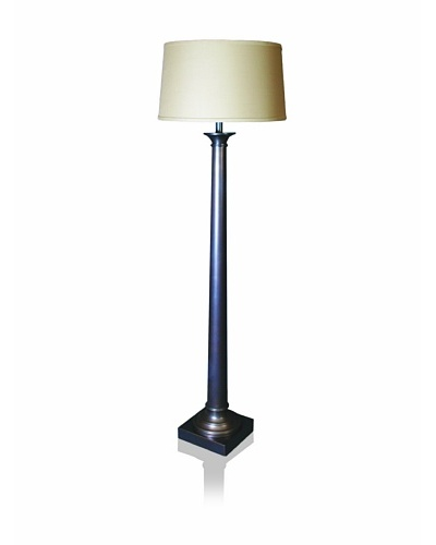 State Street Lighting Tapered Metal Column Floor Lamp, Oil-Rubbed Bronze