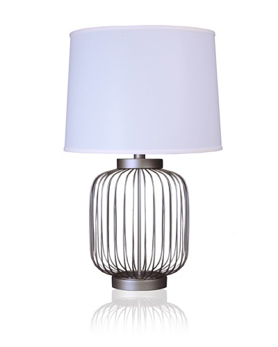State Street Lighting Full-Size Wire-Body Table Lamp, Old Iron