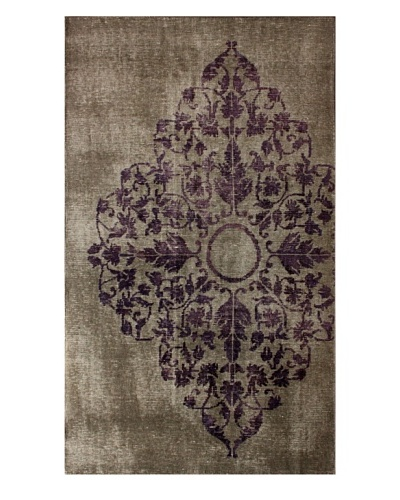 nuLOOM Hand-Knotted Overdyed-Style Medallion Rug