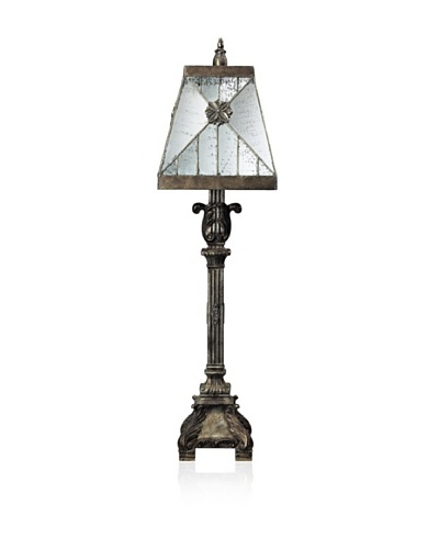 Dimond Lighting Buffet Lamp with Mirrored Shade