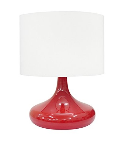 Integrity Lighting Opal Glass Table Lamp, Red