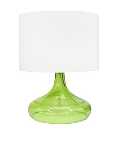Integrity Lighting Opal Glass Table Lamp, Green