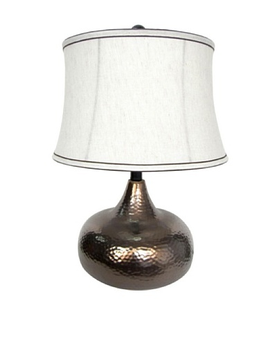 Integrity Lighting Glazed Ceramic Table Lamp, Bronze