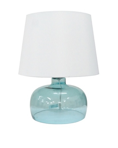 Integrity Lighting Opal Glass Table Lamp, Blue