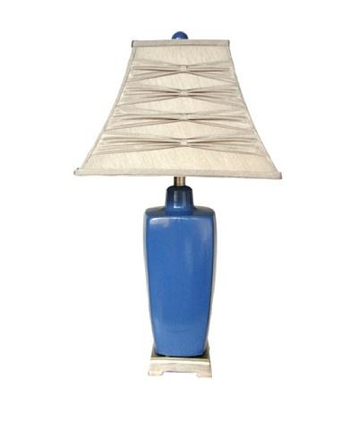 Integrity Lighting Reactive-Glaze Ceramic Table Lamp, Blue