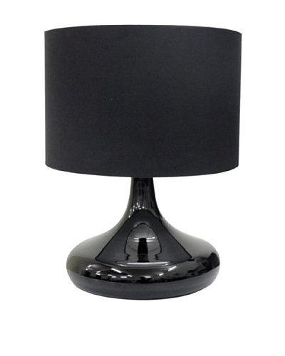 Integrity Lighting Opal Glass Table Lamp, Black