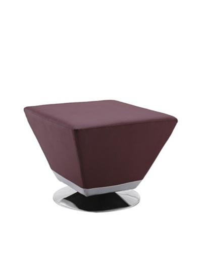 International Design USA Cube Ottoman, Purple