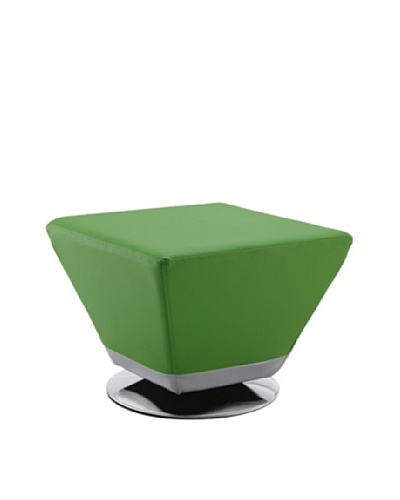 International Design USA Cube Ottoman, Green