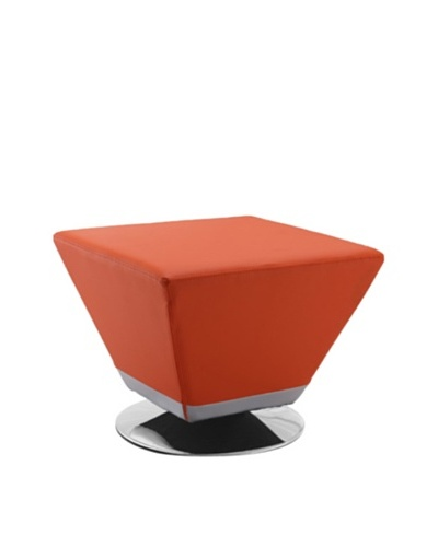 International Design USA Cube Ottoman, Orange
