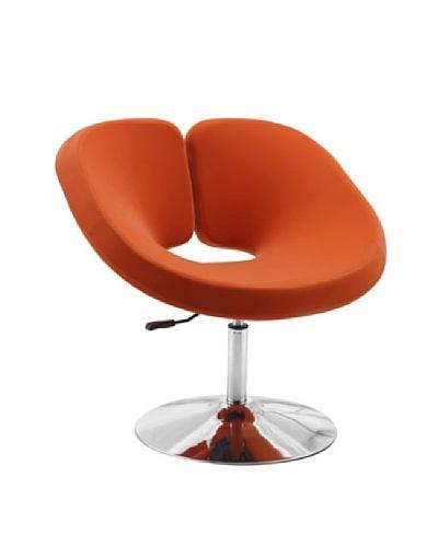 International Design USA Pluto Adjustable Wool Leisure Chair, Orange